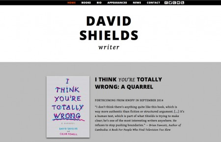 David Shields - Author