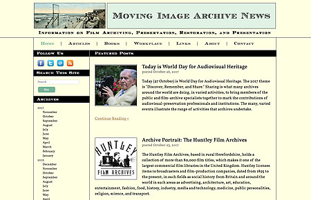 Moving Image Archive News